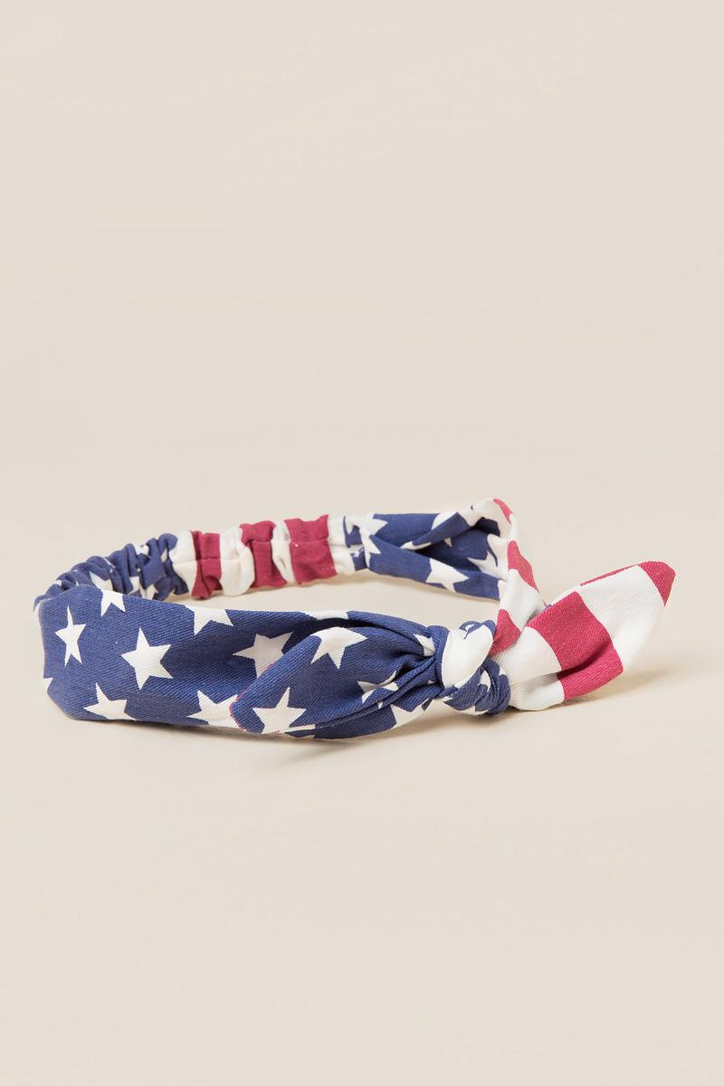 Americana Bow Headband-  red-cl