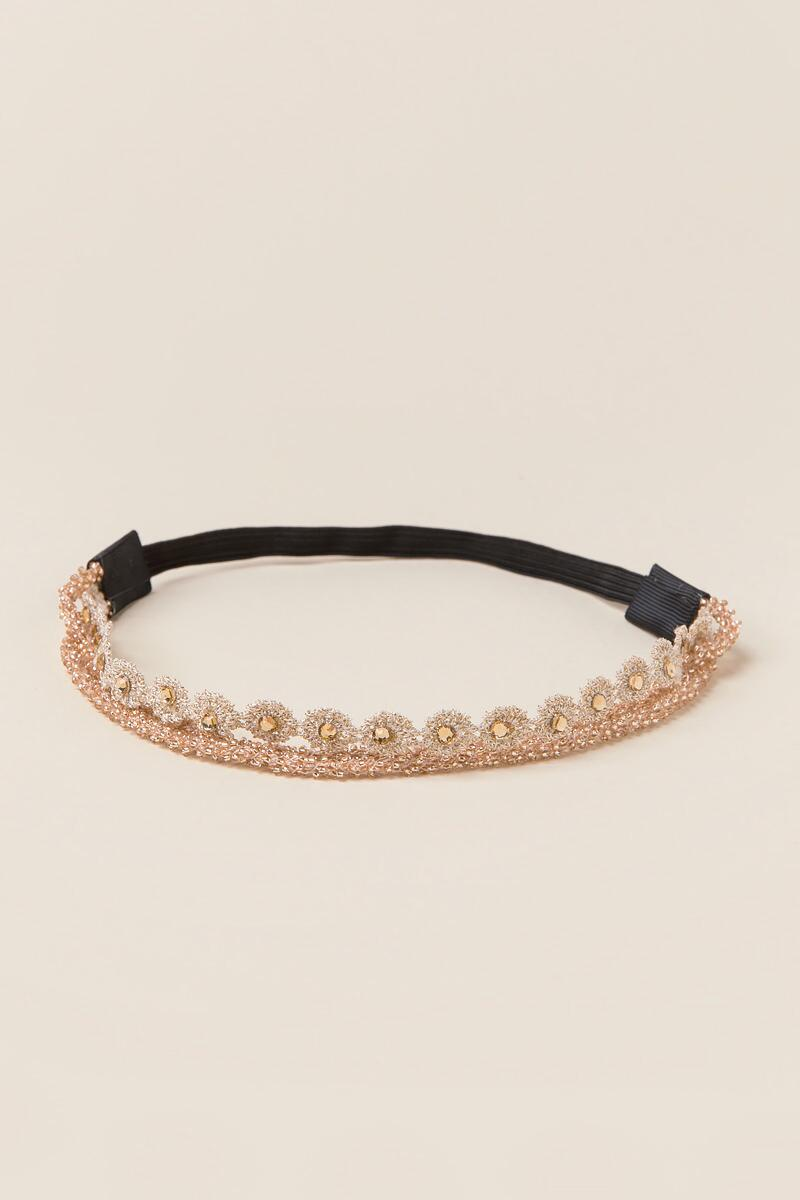 Adelphia Multi-Strap Headband-  gold-cl