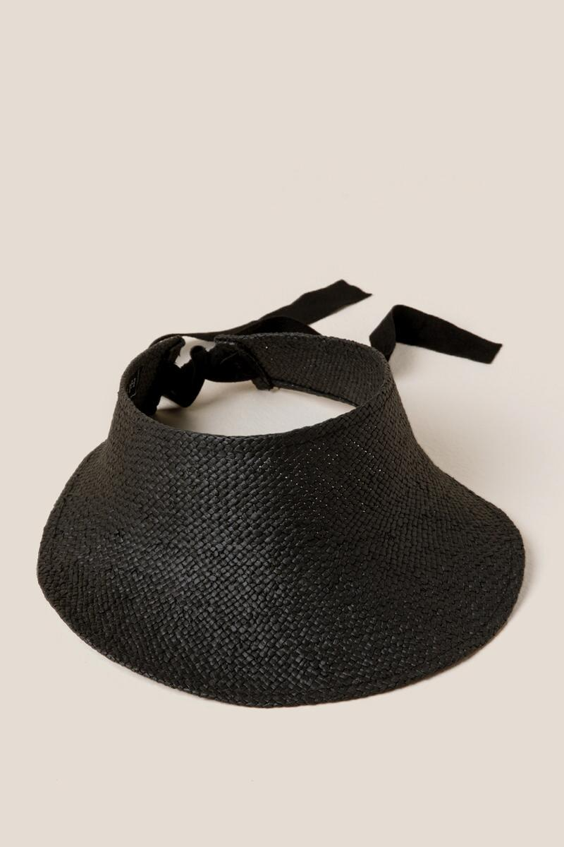 Juliet Straw Visor- Black