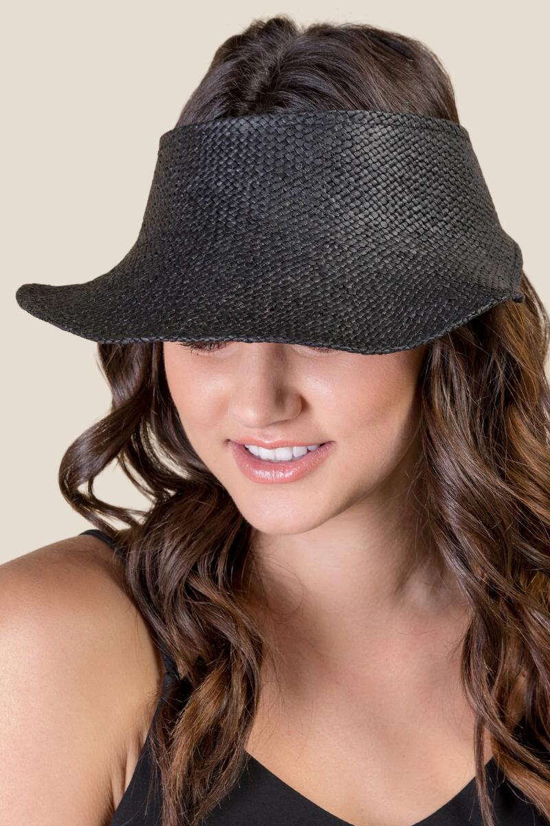 Juliet Straw Visor- Black model