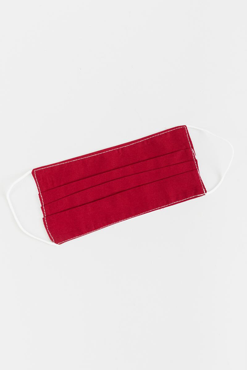 Jane Solid Reusable Face Mask- Burgundy