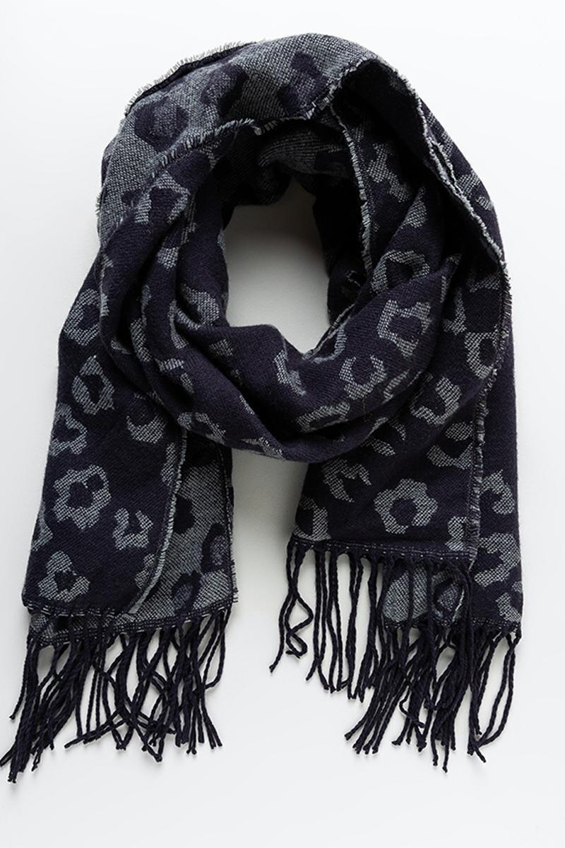 Darian Double Sided Leopard Print Scarf