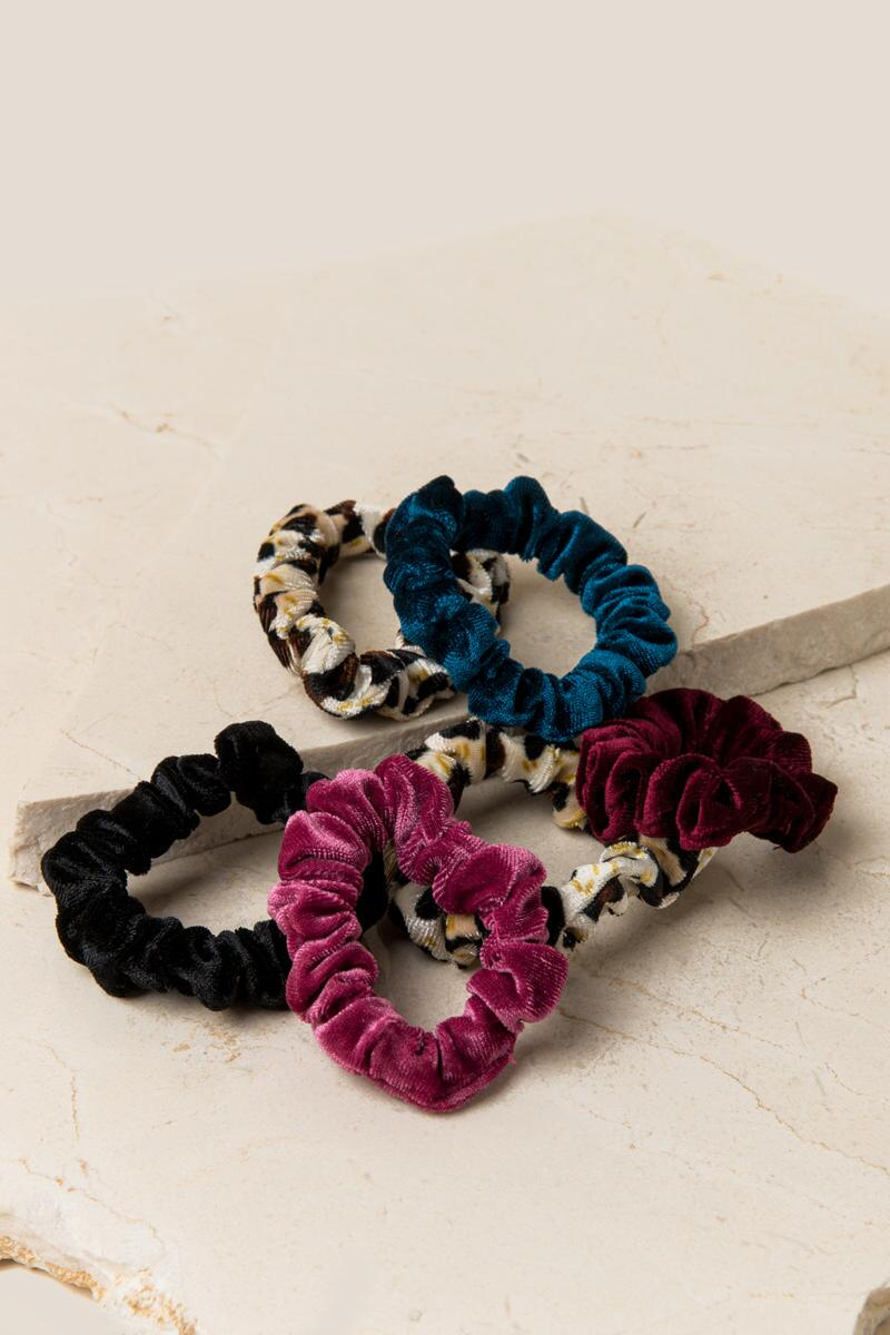 Ana Leopard Scrunchie Set-  leop-cl