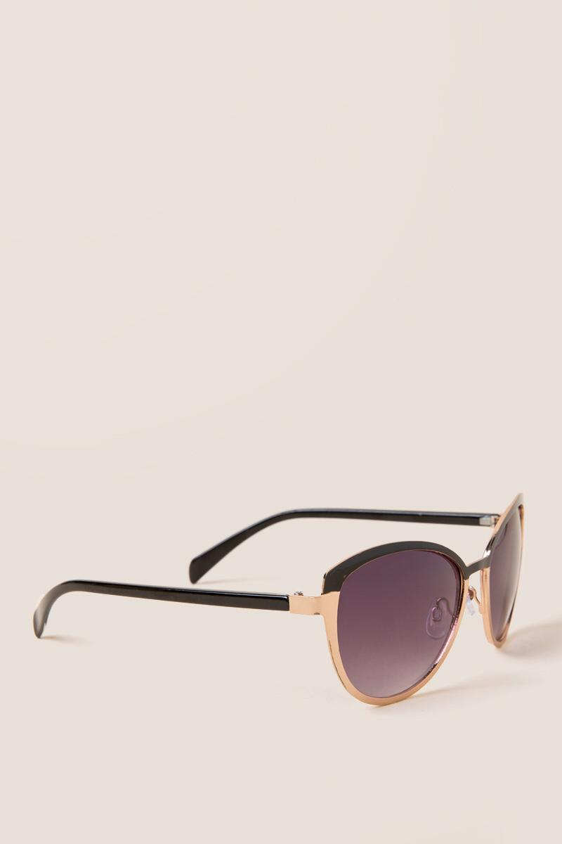 Keira Metal Rimmed Sunglasses-  tort-cl