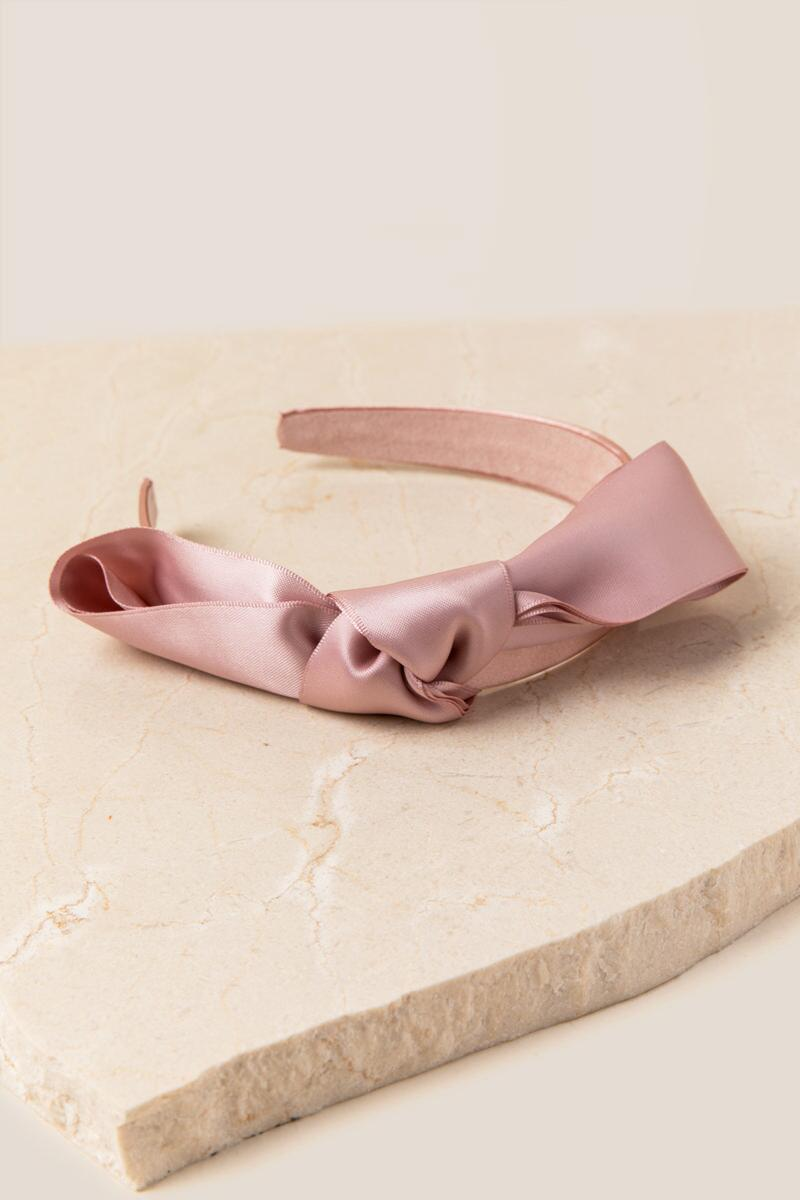 Toni Bow Headband-  blush-clalternate
