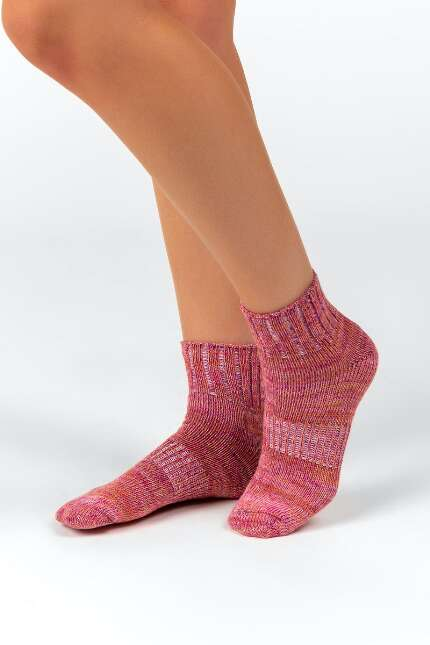 Andrea Purple Short Crew Socks