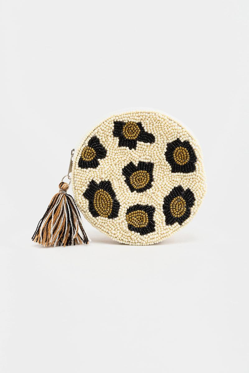 Lydia Round Beaded Pouch