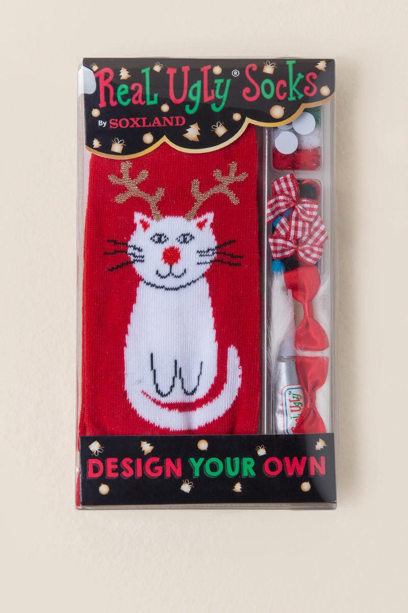 Design Your Own Real Ugly Cat Socks