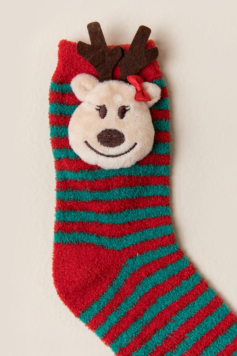 prancer reindeer light up socks red clalternate