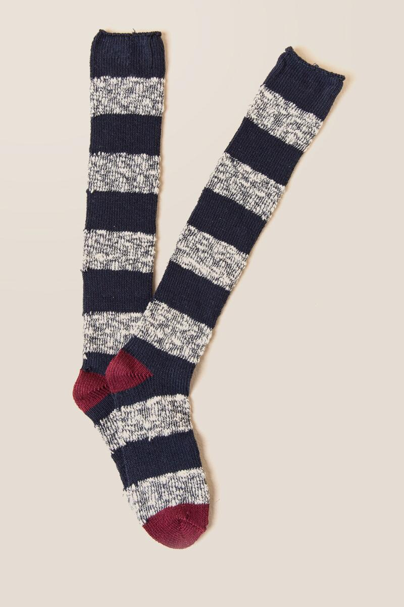 Hydee Striped Over the Knee Socks