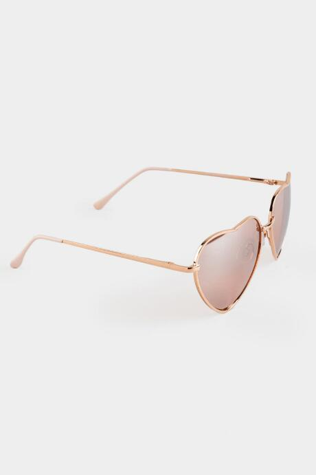 Brandi Rose Gold Heart Shaped Sunglasses