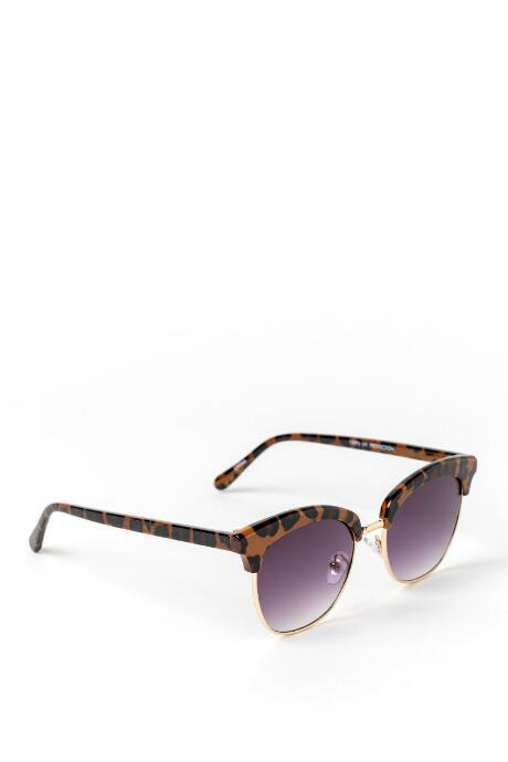 Lee Leopard Print Sunglasses