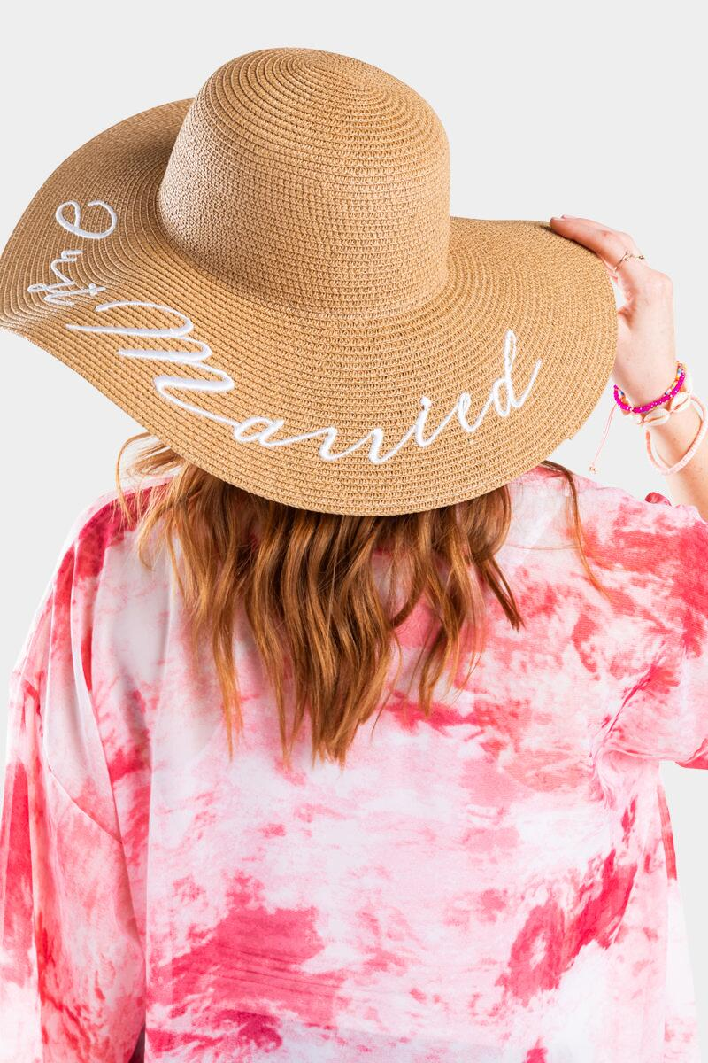 Just Married Floppy Hat-  nat-cl2