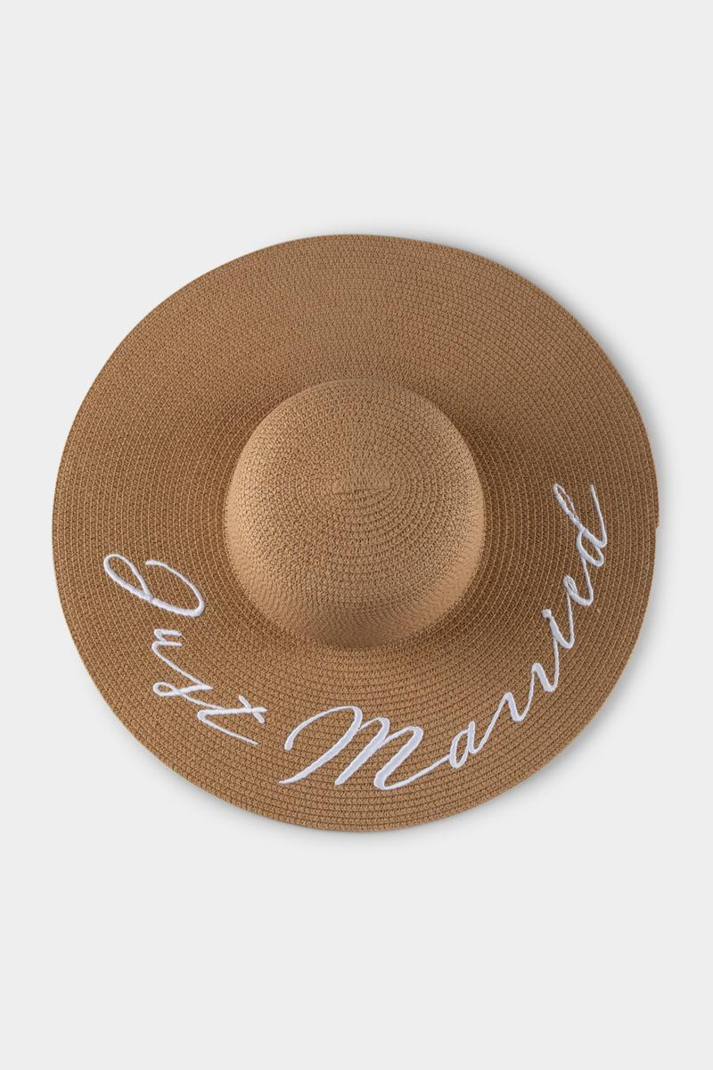 Just Married Floppy Hat-  nat-cl4