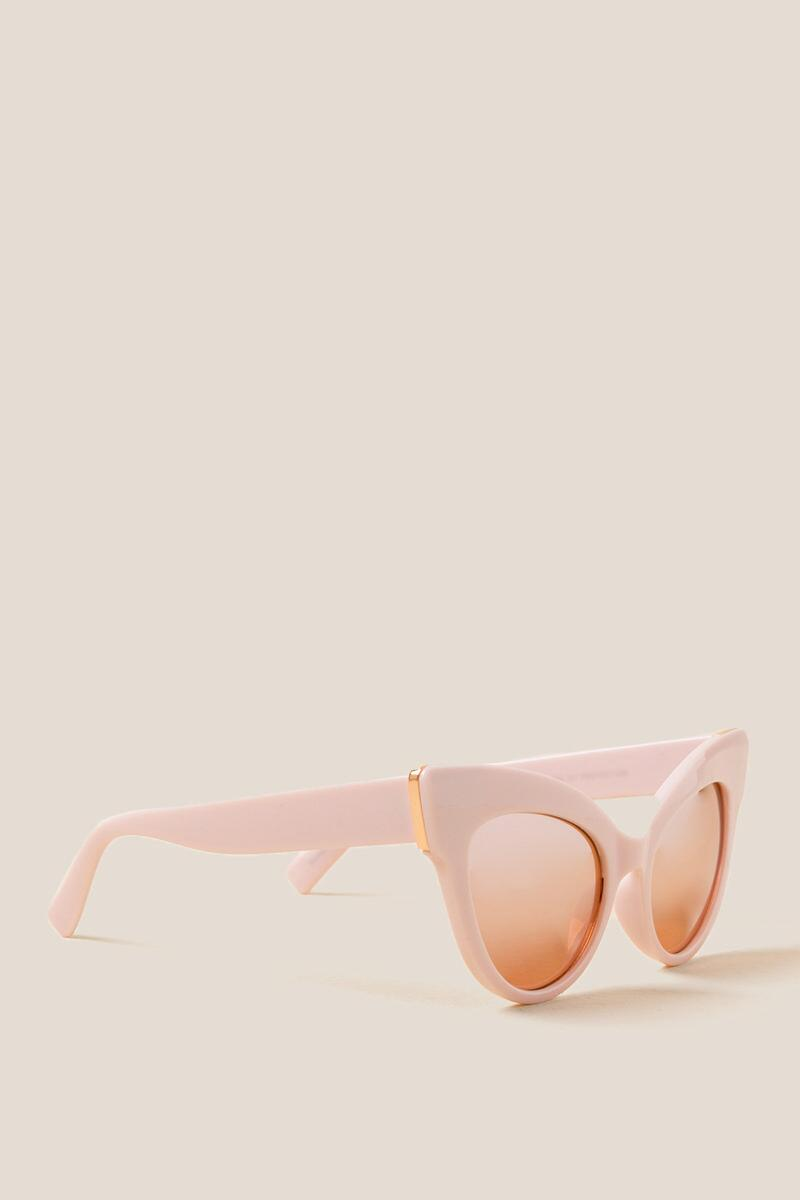 Pageant Cat Eye Sunglasses-  blush-cl
