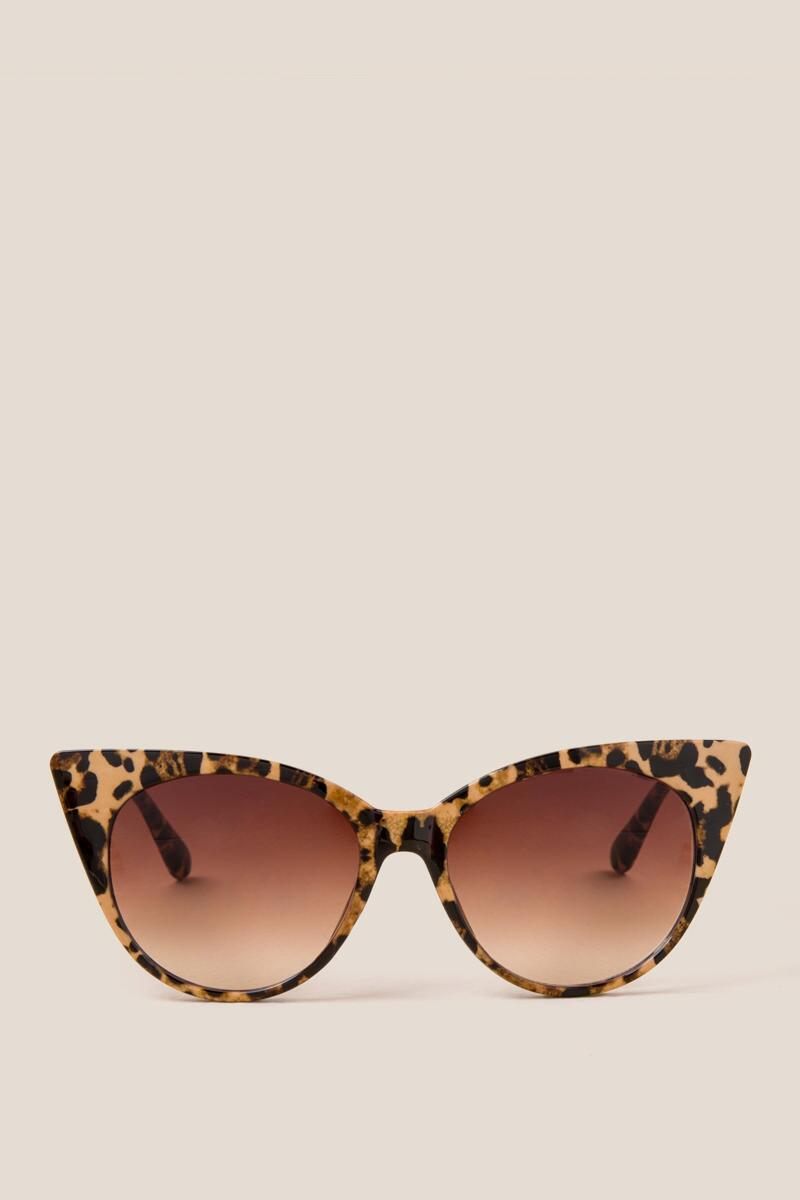 Penelope Cat Eye Sunglasses-leop-cl 2