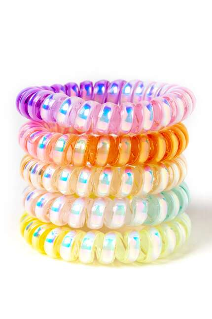 Metallic Tie Dye Coil Scrunchies