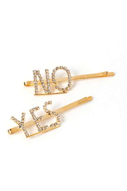 Sam Yes & No Rhinestone Bobby Pins