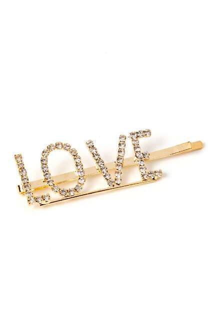 Julia Rhinestone LOVE Bobby Pin