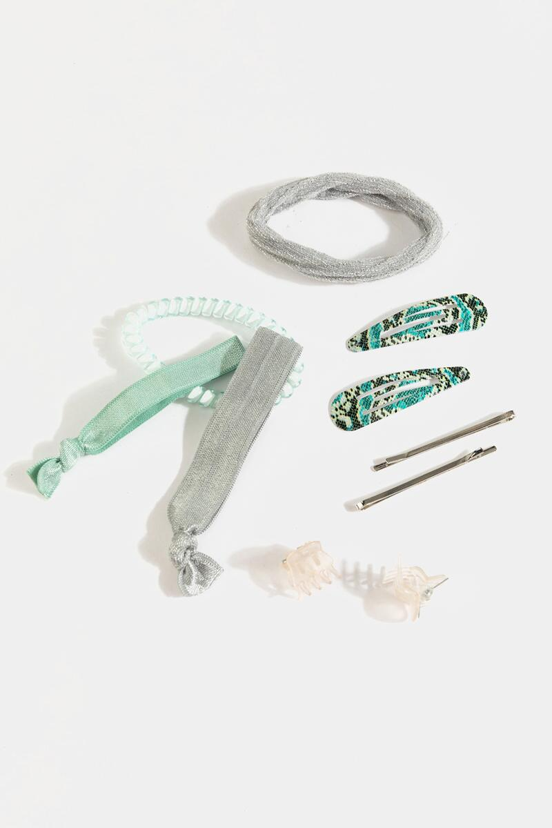 Debbie Mixed Hair Accessories Set-  mint-cl