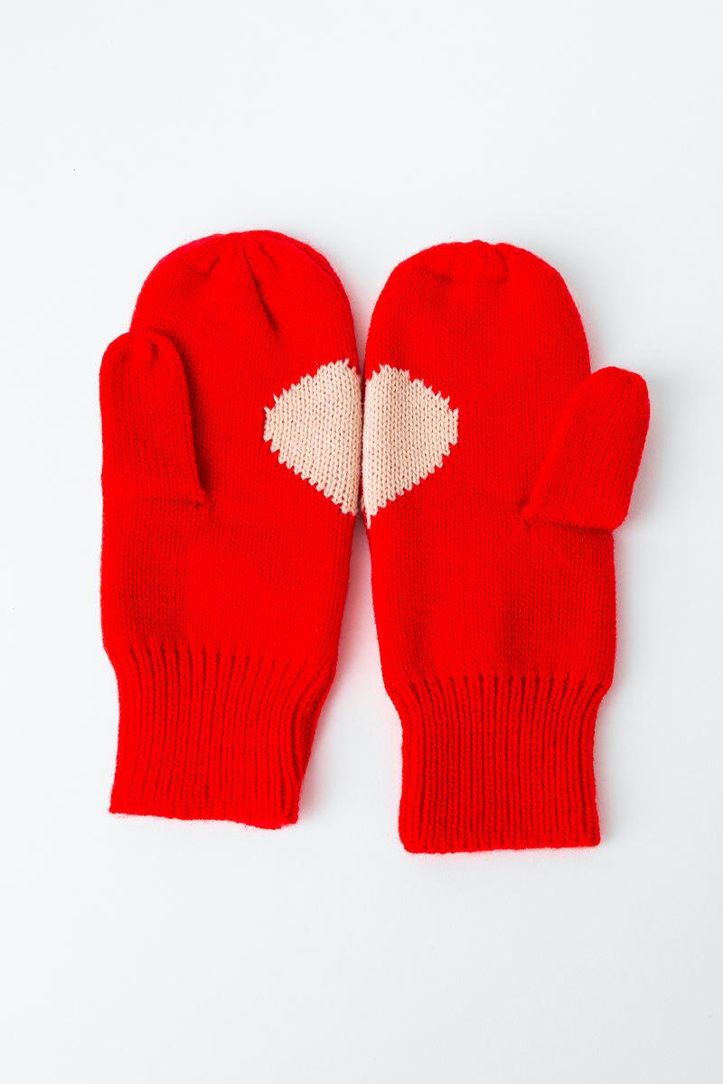 You & Me Mittens- Red 2