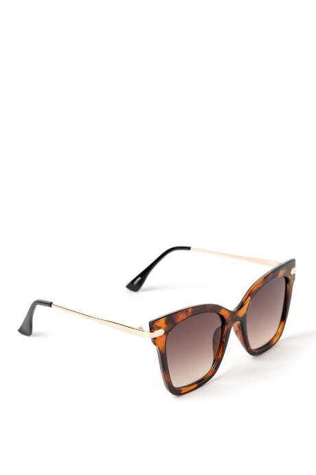Sally Square Frame Tort Sunglasses