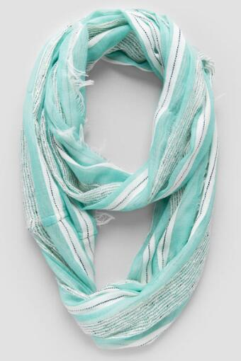 Belinda Textured Stripe Loop Scarf