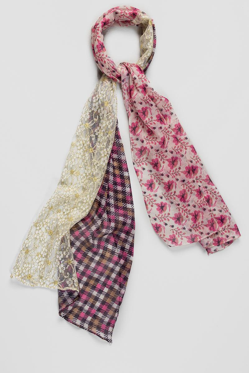 Marisol Mixed Media Scarf-  multi-cl