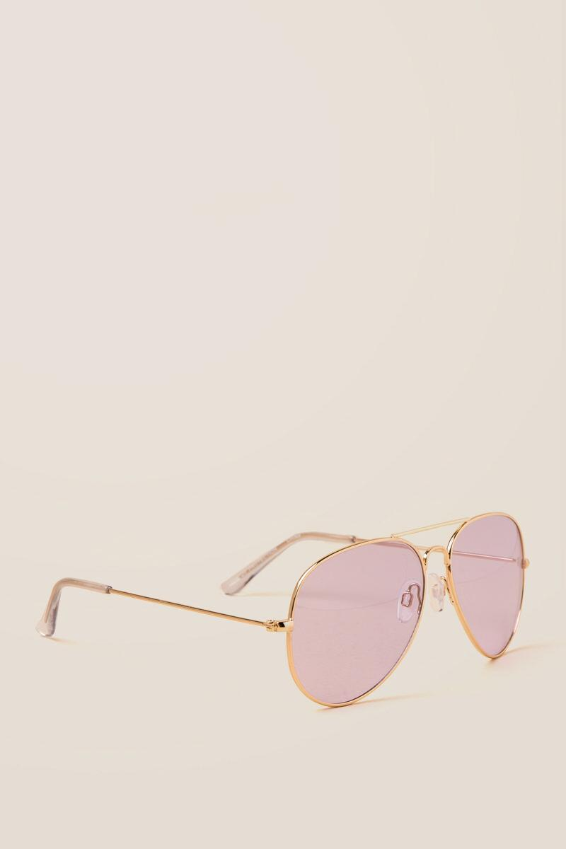 Gweneth Tinted Aviator Sunglasses