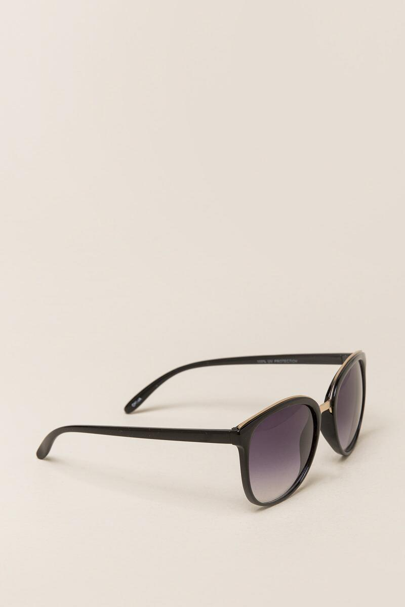 Rochelle Wide Sunglasses-  blk-cl