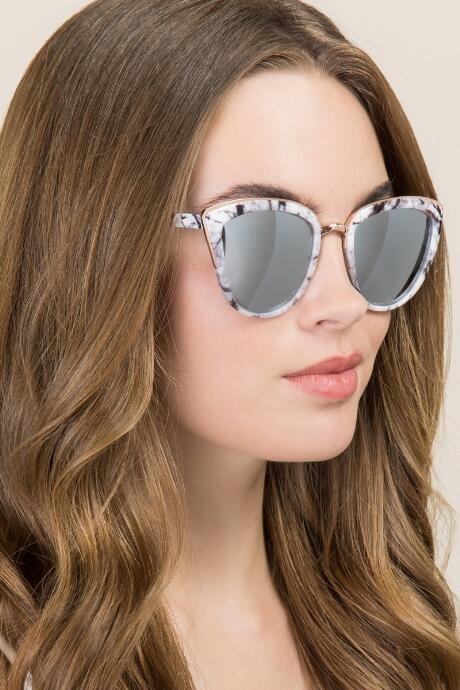 Reva Marbled Cat Eye Sunglasses