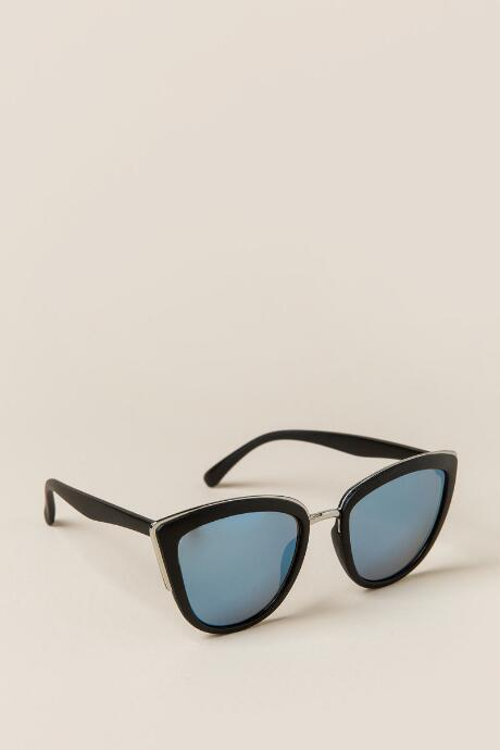 Zoe Mirrored Cat Eye Sunglasses