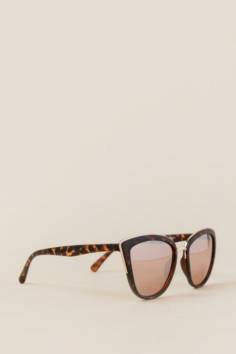 Shea Cat Eye Sunglasses in Rose Gold