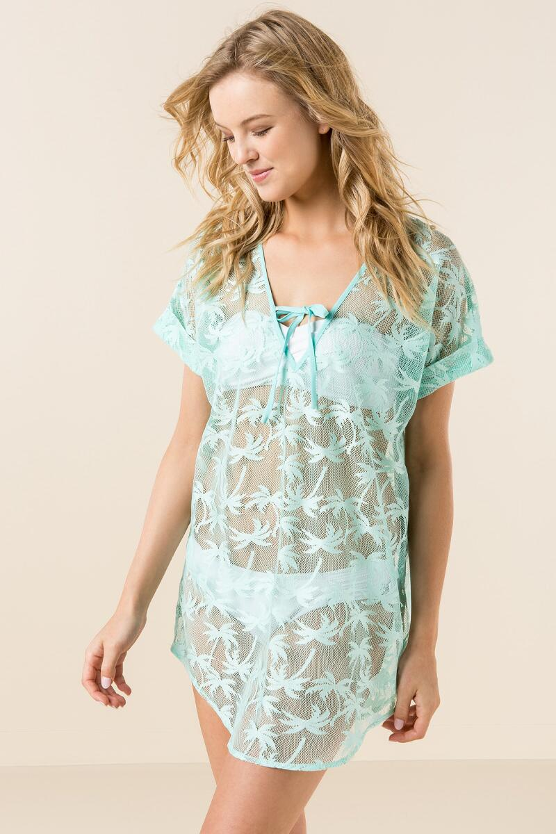 Barbados Palm Swim Cover-Up