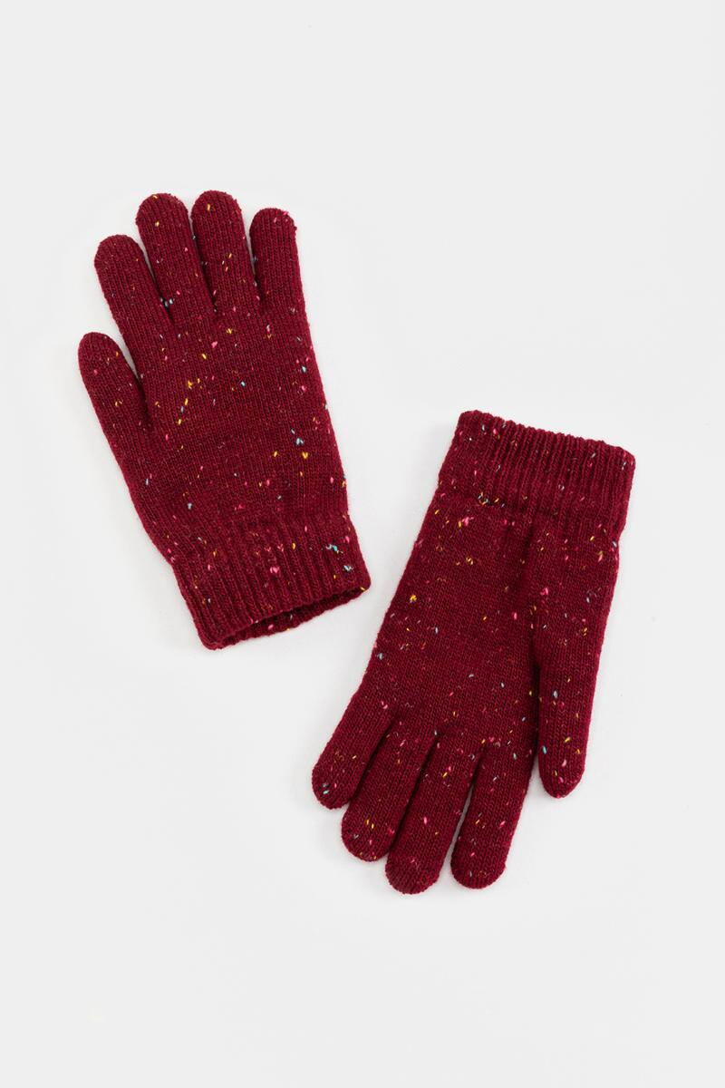Nia Feather Lined Basic Gloves-  burg-cl