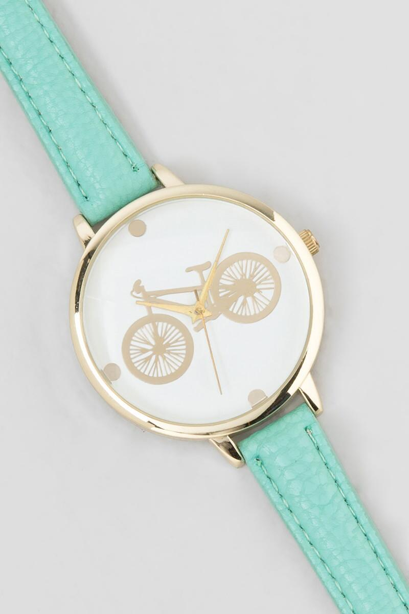 Bicycle Watch-  mint-cl