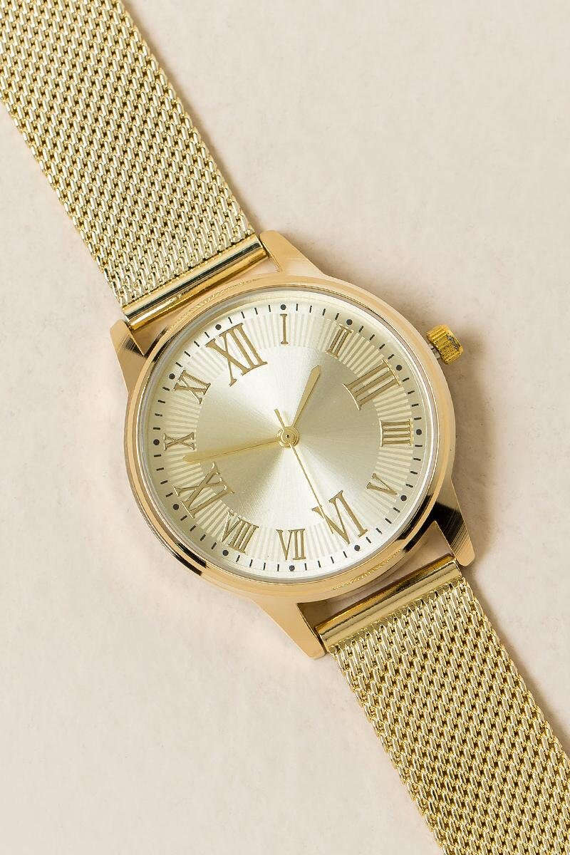 Traci Mesh Band Watch