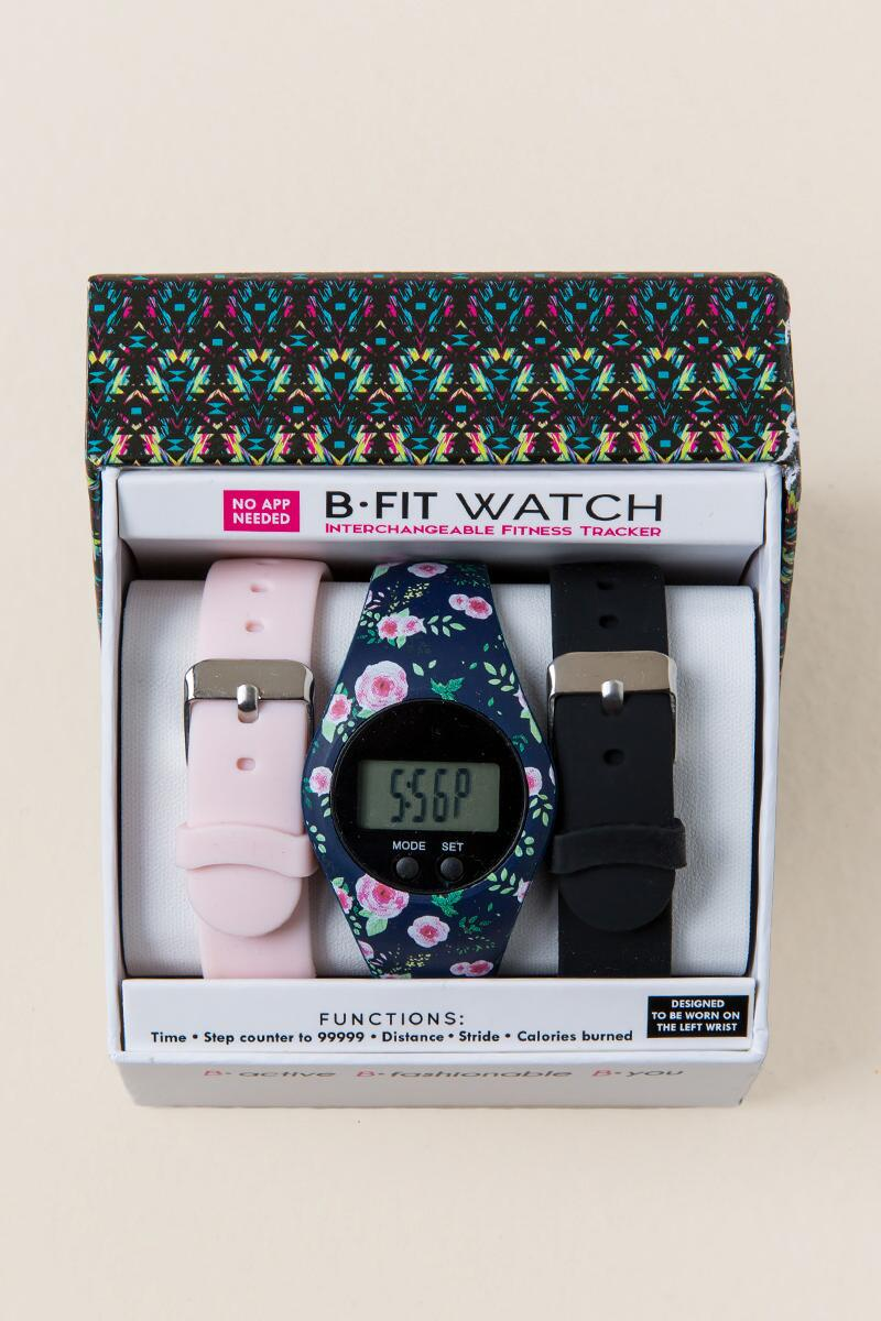 Rani Floral B-Fit Boxed Watch-  blush-cl