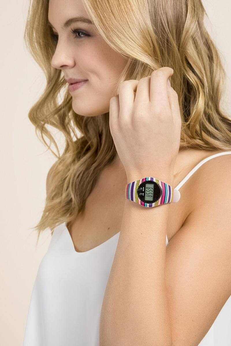 Erika Striped B-Fit Boxed Watch-  npink-clmodel
