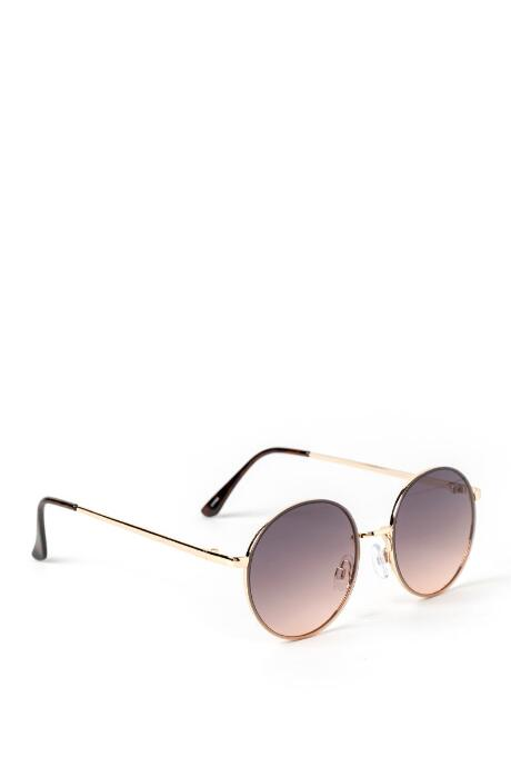 Amy Ombre Round Sunglasses