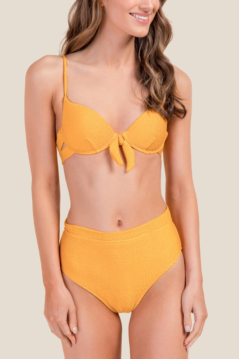 Bailey Ribbed High Waist Swimsuit Bottoms