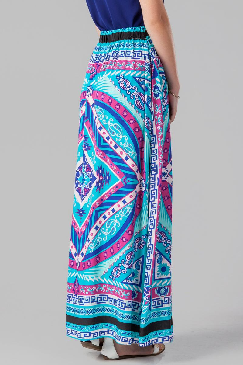 Canaveral Printed Maxi Skirt-  multi-clback