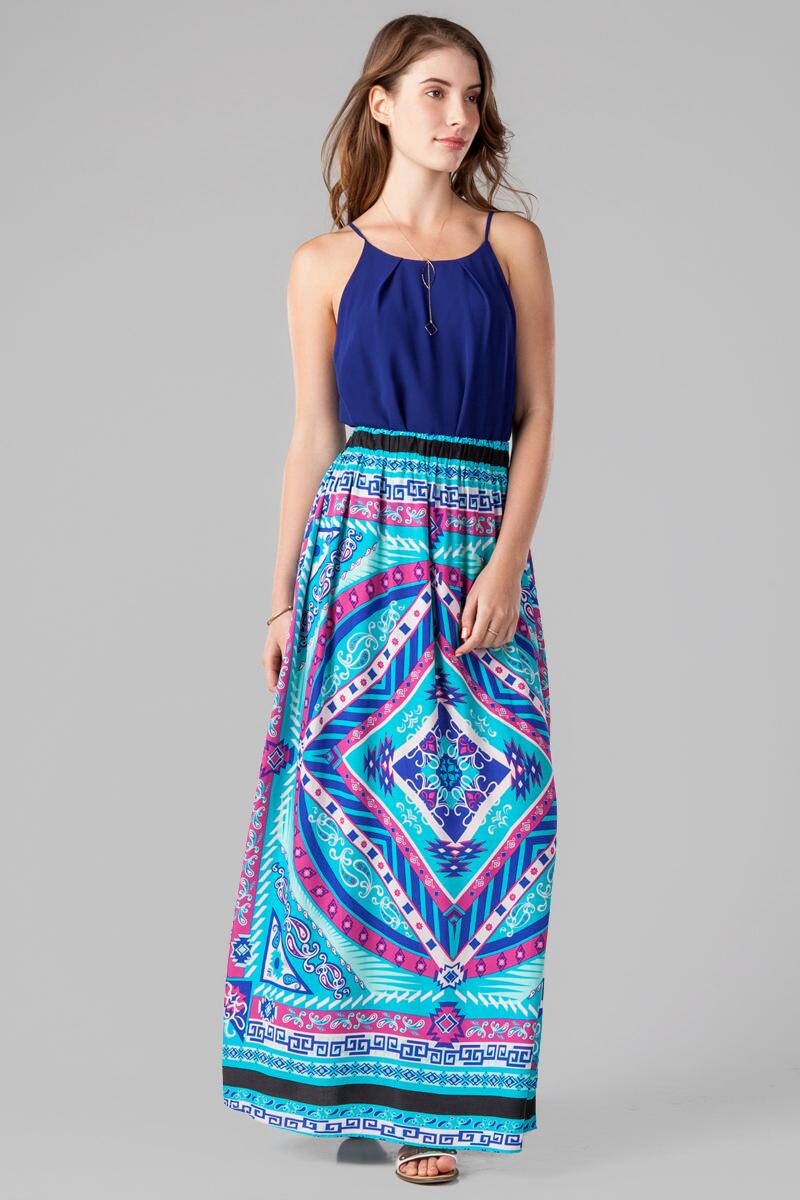 Canaveral Printed Maxi Skirt-  multi-clmodel
