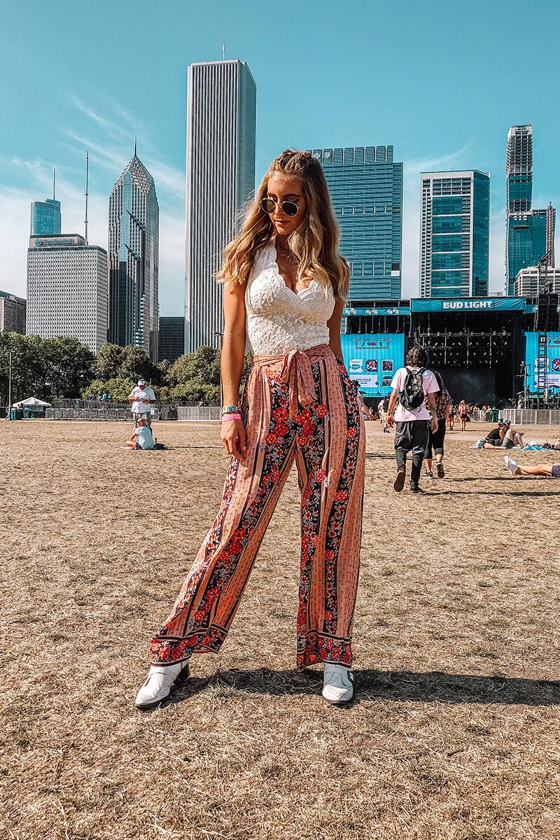 Camille Floral Palazzo Pants