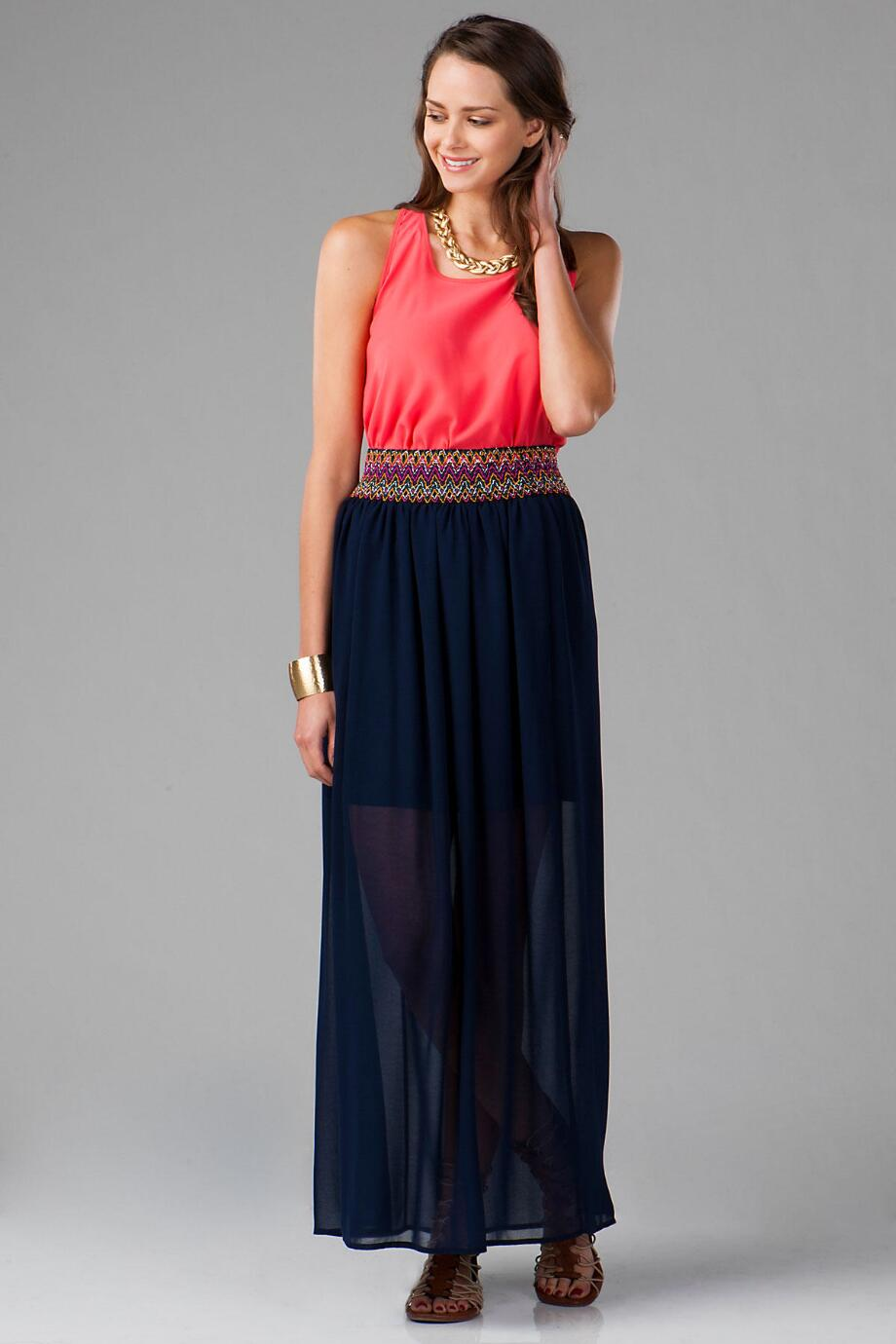 Grayson Solid Maxi Skirt