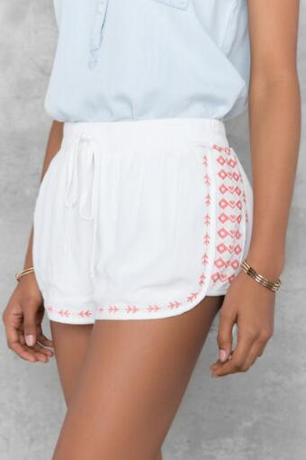 Brisa Embroidered Shorts