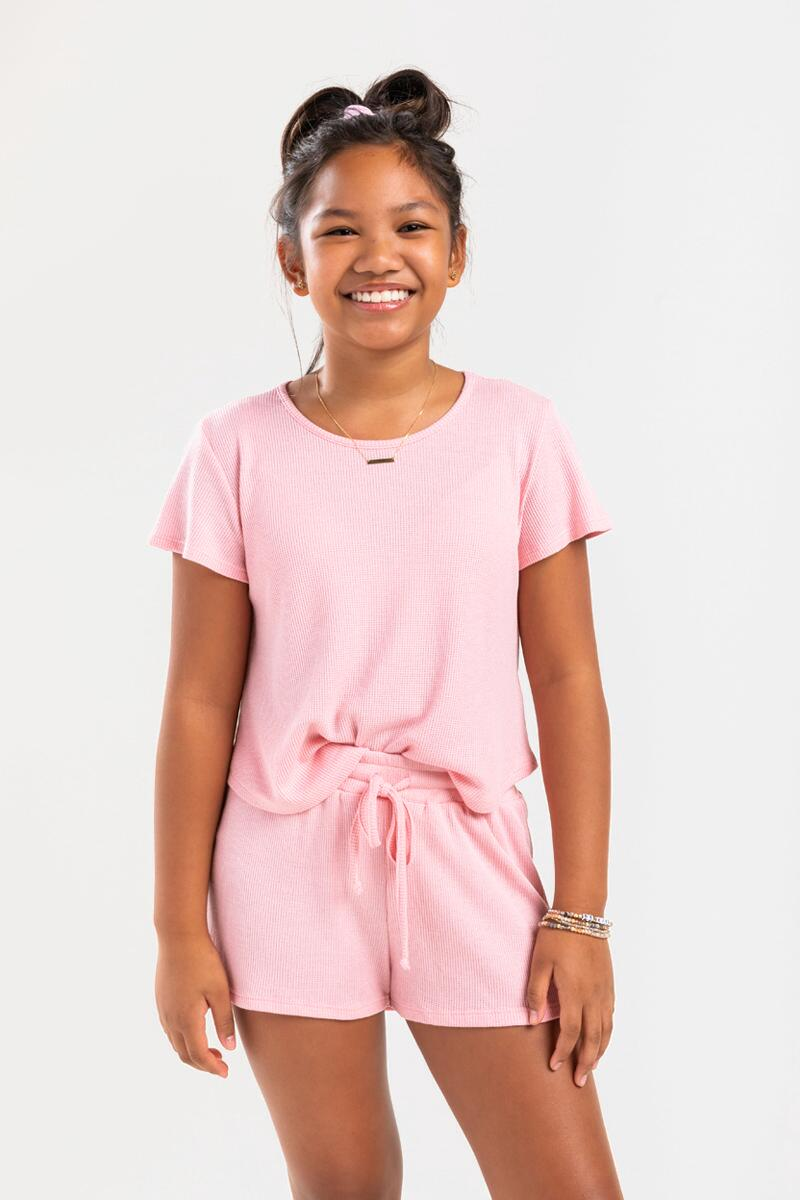franki Micro Thermal Shorts for Girls-  blush-cl