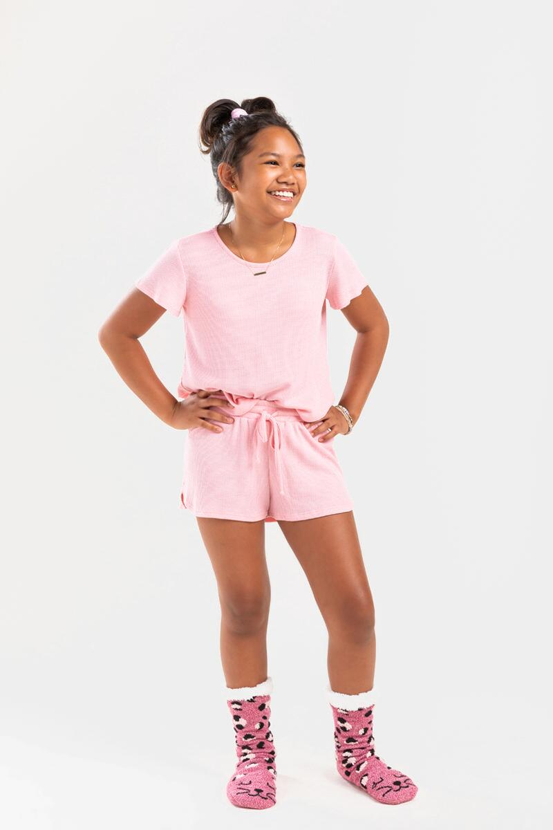 franki Micro Thermal Shorts for Girls-  blush-cl2
