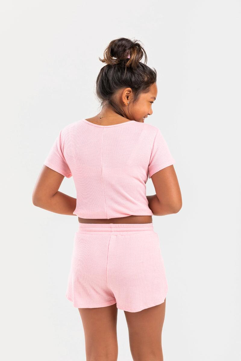 franki Micro Thermal Shorts for Girls-  blush-cl3