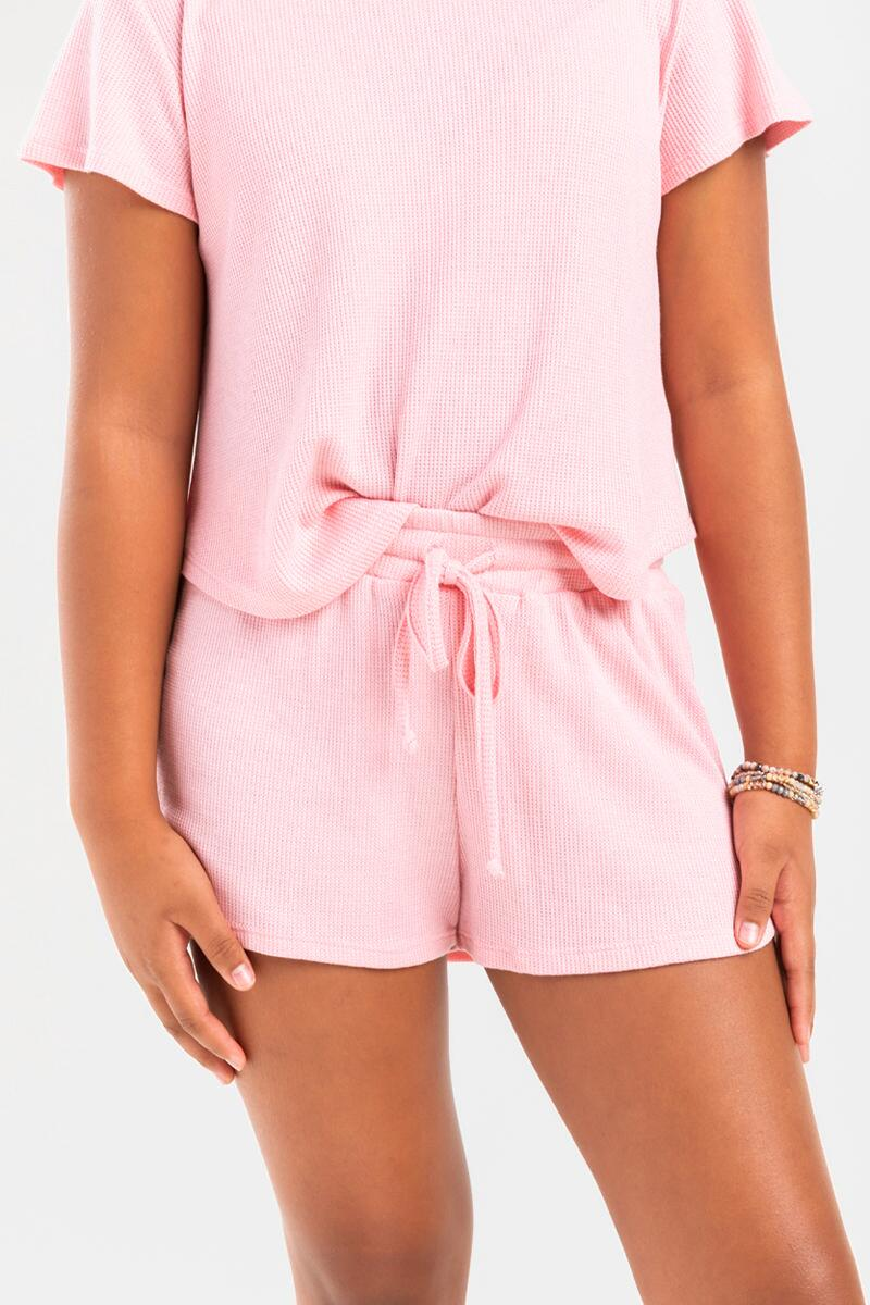 franki Micro Thermal Shorts for Girls-  blush-cl4